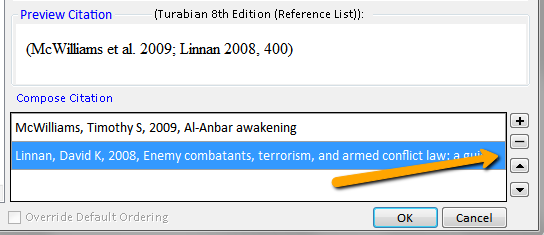 Screenshot of the Preview Citation and Compose Citation options