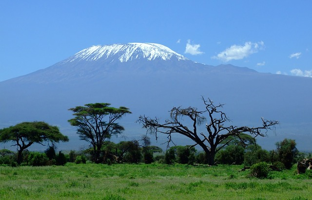 Mount Kilimajaro in Kenya courtesy of Pixaby