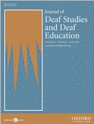 Journal of Deaf Studies and Deaf Education cover