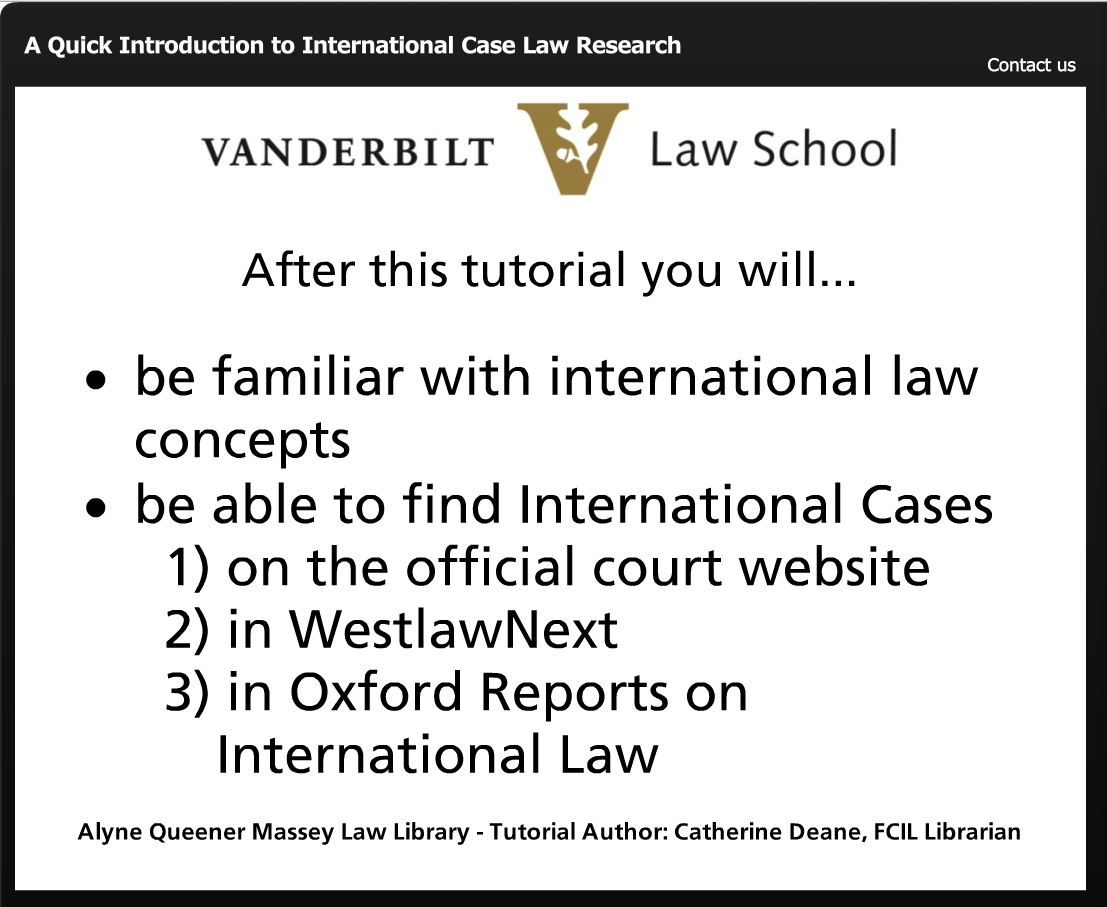 Intro to Case Law Research