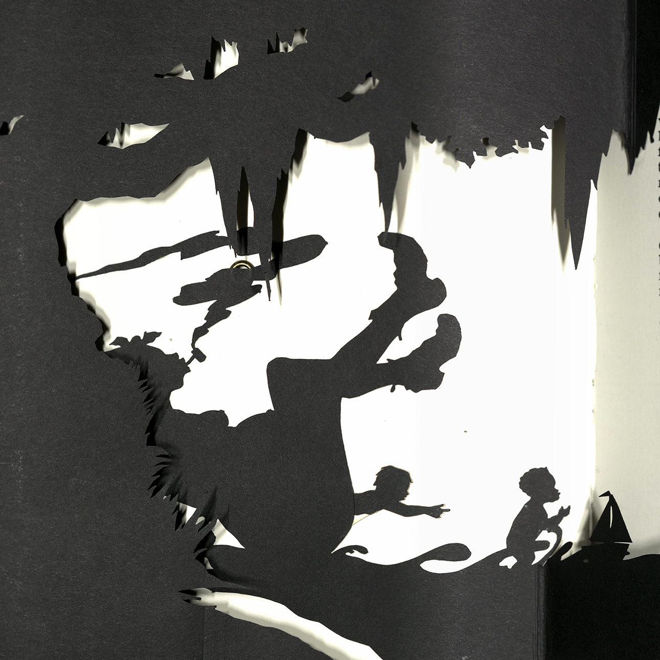 "Interior image from Kara Walker's book, ""Freedom, A Fable."""