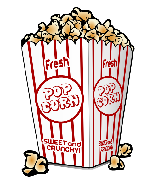 clipart of a container of popcorn