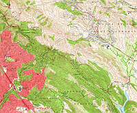 Oakland East 1959 USGS 1:24,000 topographic quadrangle (crop)