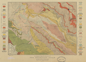 Geological map of a portion of the Berkeley Hills