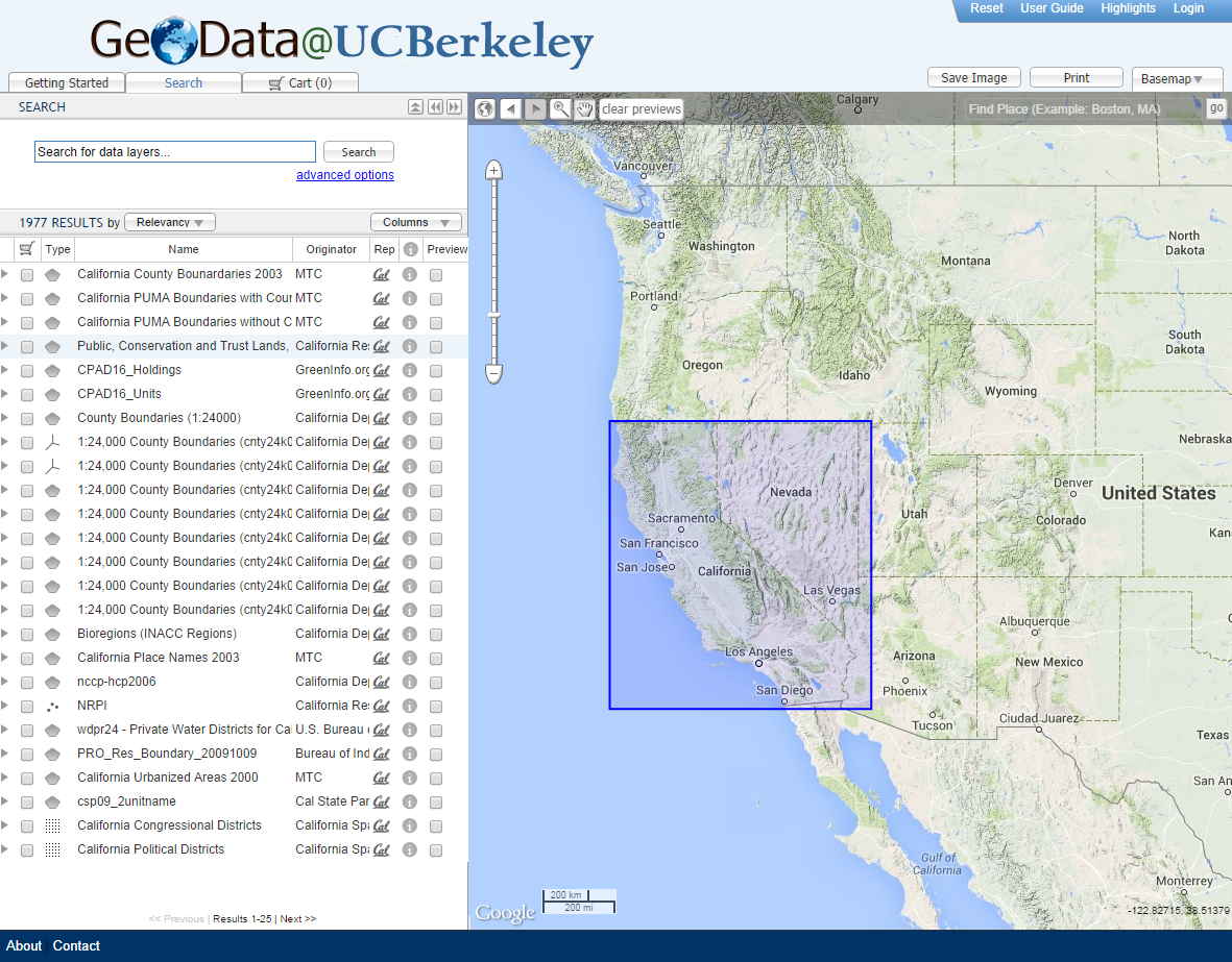 GeoData at UC Berkeley