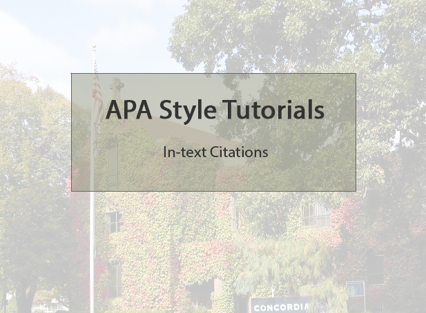 APA in-text references video title page