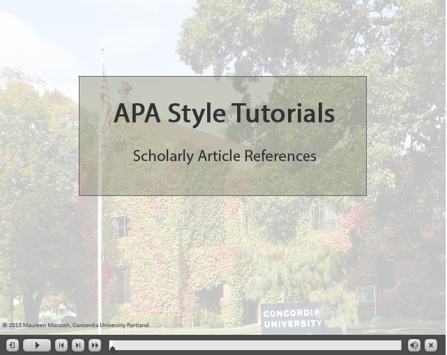 APA video link for articles