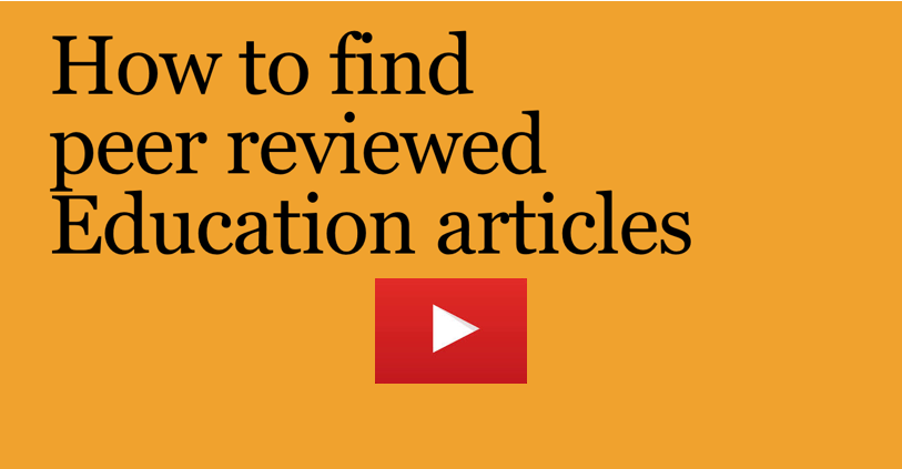 how to find peer reviewed Education articles video title page