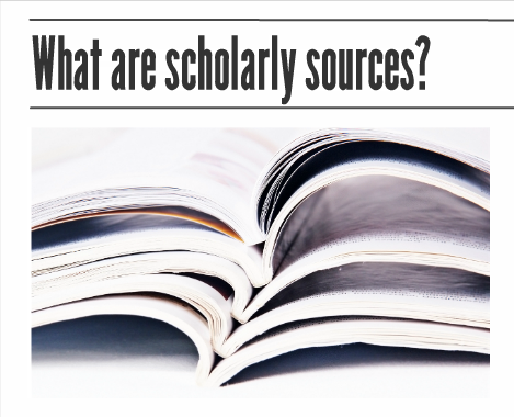 Scholarly sources video title page