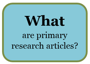 What are primary research articles?