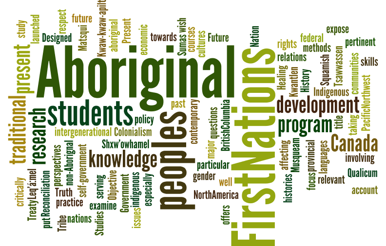 Aboriginal studies wordle