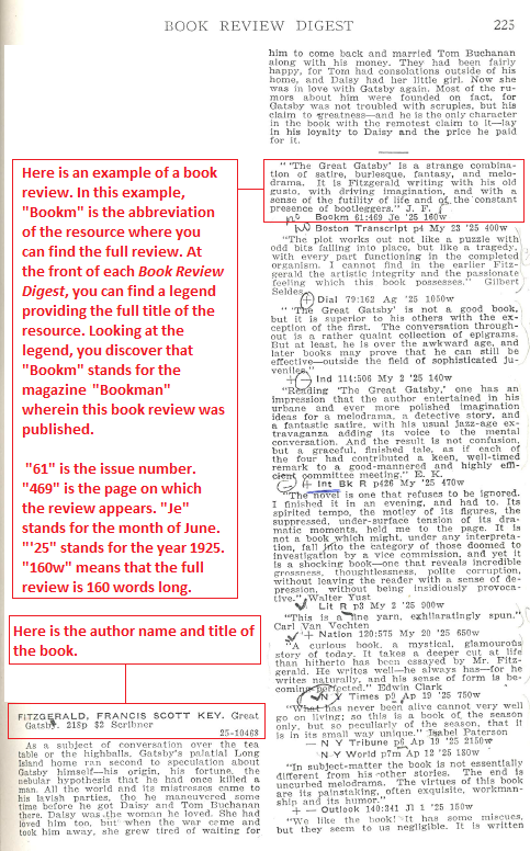 Book Review Digest screenshot