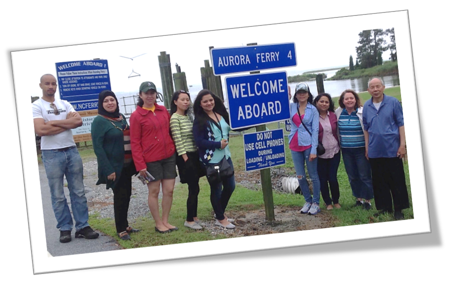 Image: PCC ESL students at the Aurora Ferry.
