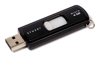 Black USB flash drive