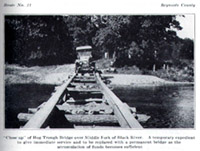 Hog trough bridge in Reynolds County, MO, ca.1928