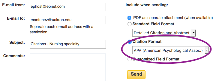 apa style email