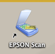 Epson Scan Icon from computer