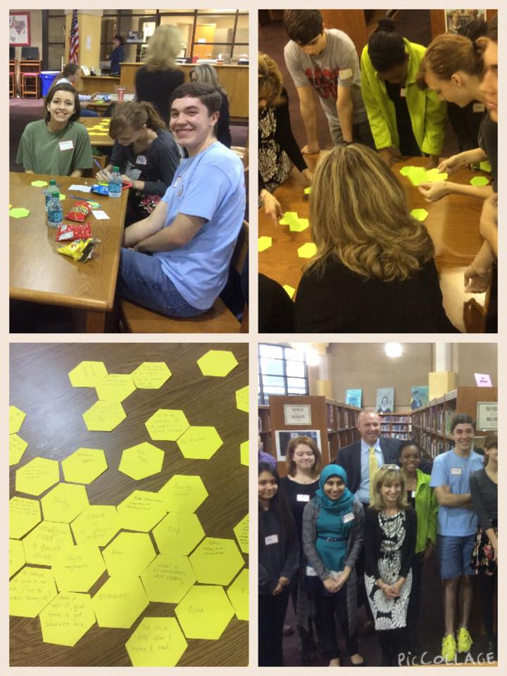 collage of images of students and teachers collaborating