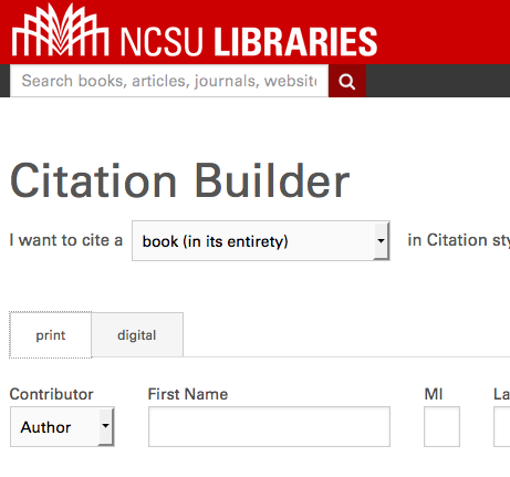 Image links to the NCSU Libraries Citation Builder