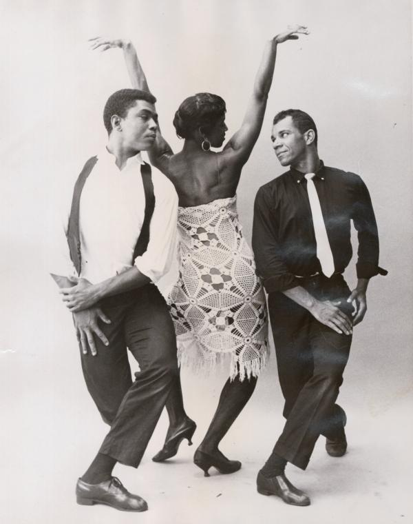 Alvin Ailey and Nathaniel Horne compete for the affections of Minnie Marshall in this dance from Alvin Ailey's Blues Suite.