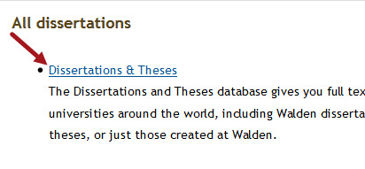 database of dissertations