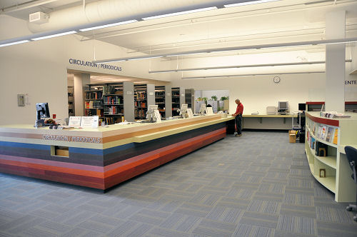LACC Martin Luther King Jr. Library's Circulation Desk