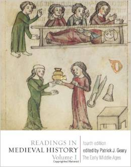 Book cover of readings in medieval history