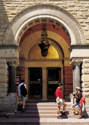 Uris Library Entrance