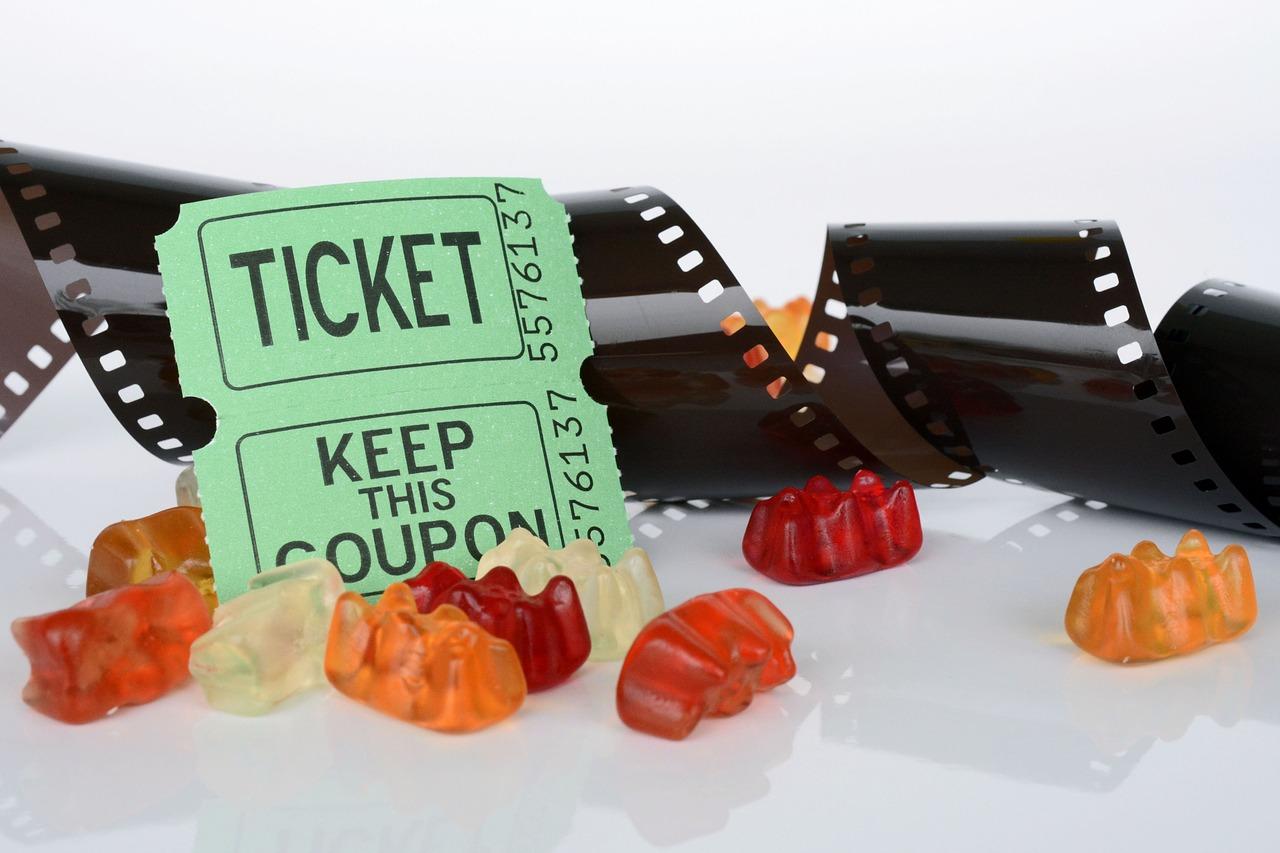 Movie Ticket and Candy