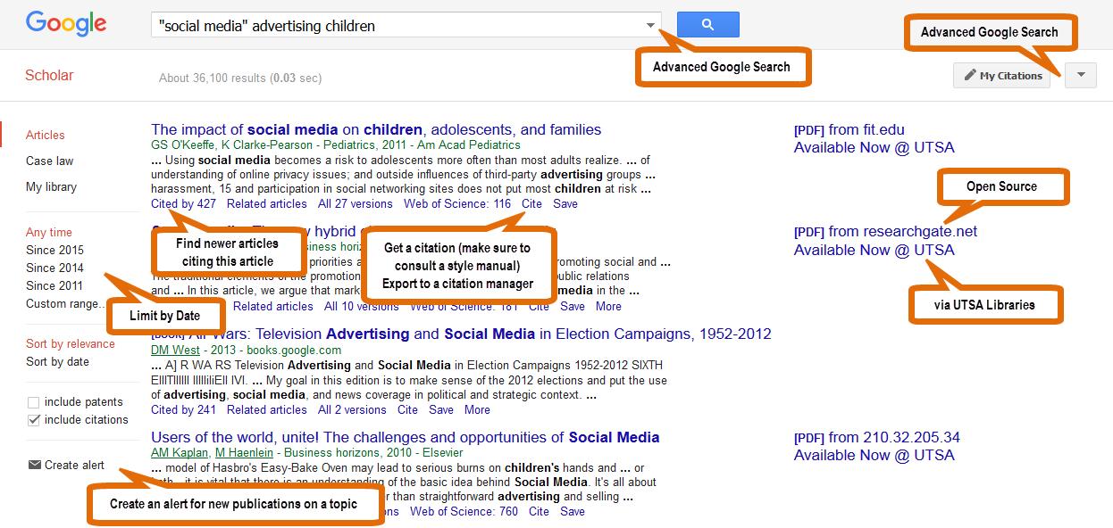 Google scholar advanced google search libguides at university of google scholar tips stopboris Image collections