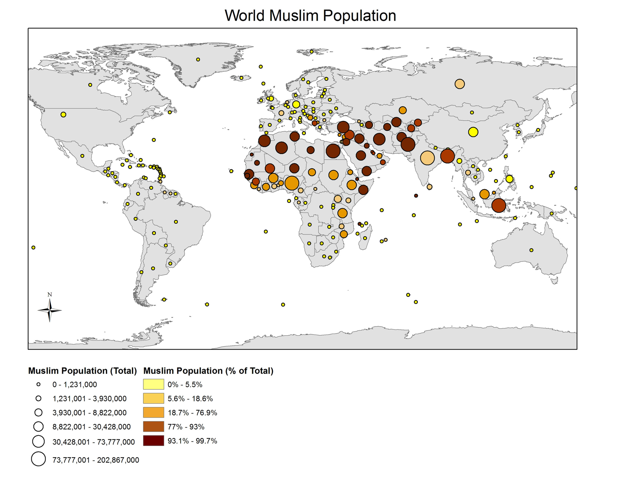 Muslim populations exhibition islam in asia diversity in past cornell university library map collection world muslim population 2010 map 2016 1 130026777 generated by martin ziech using arcview gis 1041 gumiabroncs Gallery