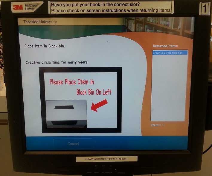 Self service machine screen