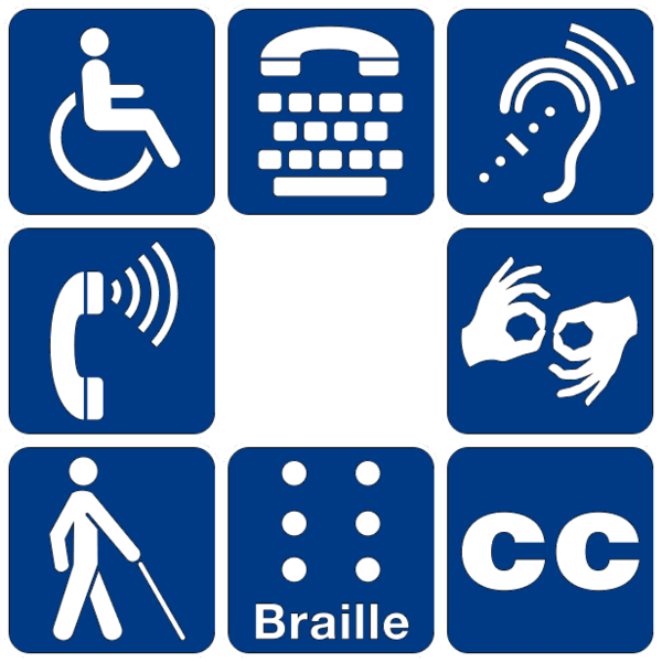 Photo: varied disability symbols