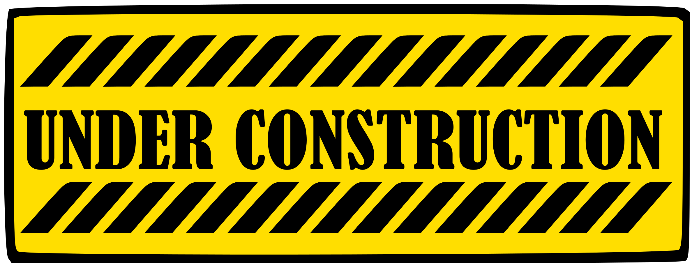 Photo: sign reading under construction