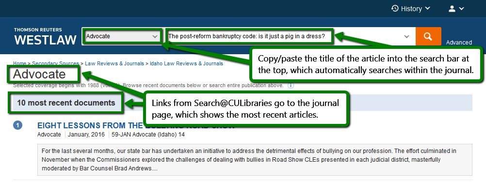 copy and paste article title into search bar