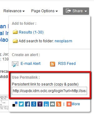 EBSCO search results page - permalink