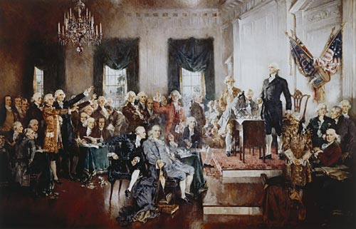 The Scene at the Signing of the Constitution, by Howard Chandler Christy, 1940