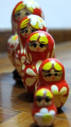 Matryoshka dolls. By Amanda Er
