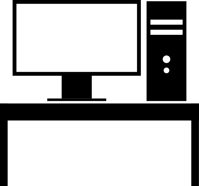 Icon of Computer and desk