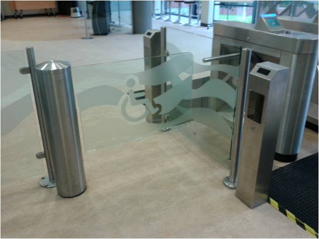 Photo of wheelchair gate