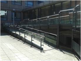 Photo of Kimberlin Library ramp