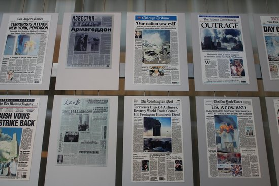 Newseum front pages of the day image