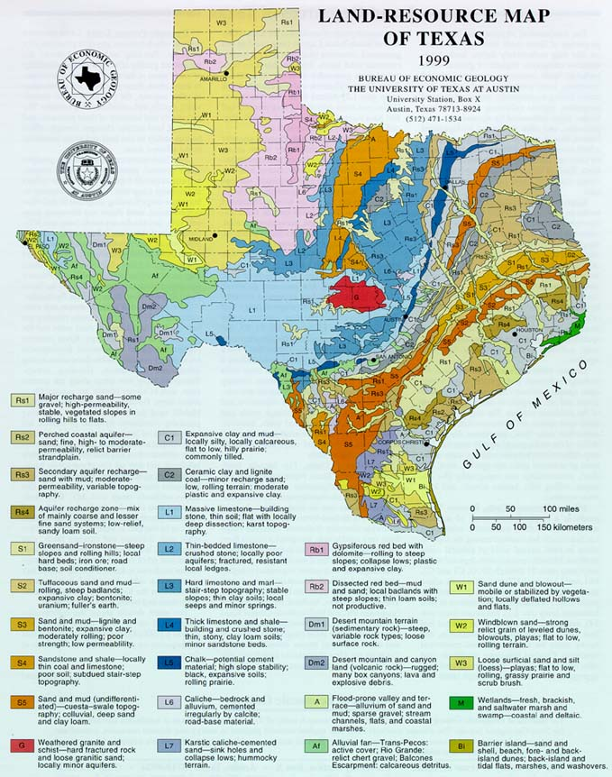 Land-Resource Map of Texas 1999