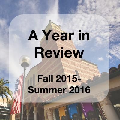 A year in review (Fall 2015-Summer 2016) flyer