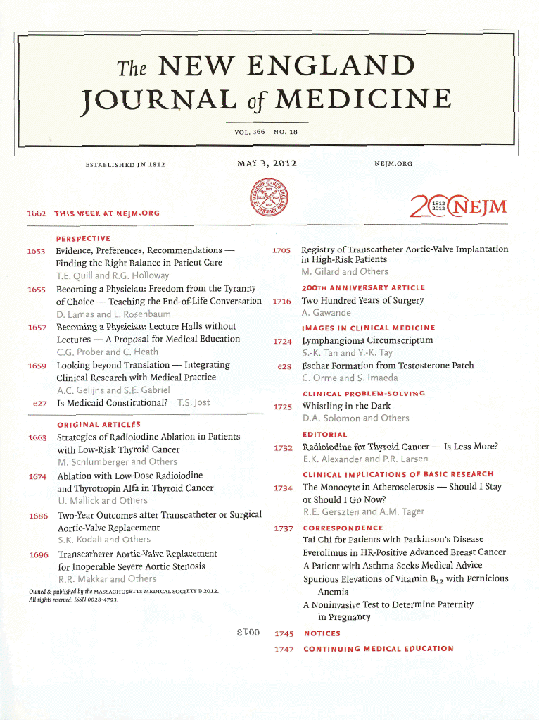 Articles in medicine