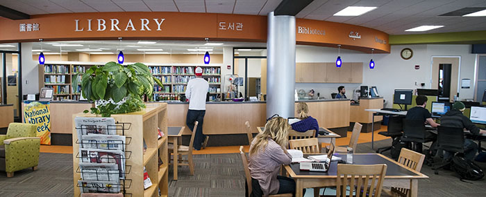 Truax Library circulation desk