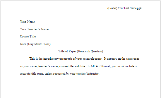 project literature review sample