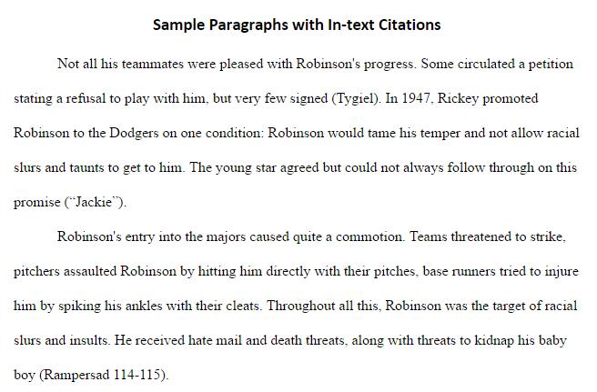 Apa format paraphrasing paragraph