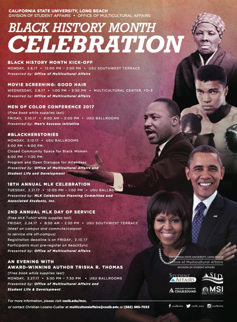 Black History Month Celebration Flyer