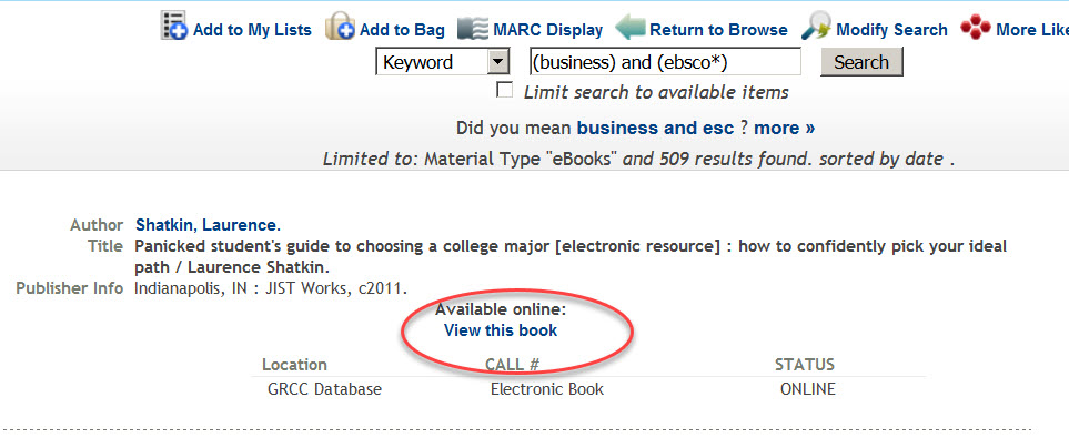 Ebsco ebooks linking